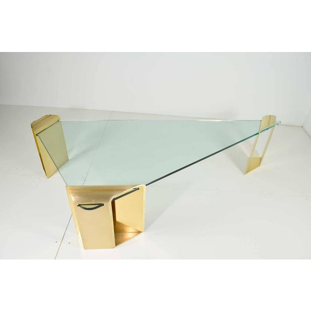 Large Stunning Solid Brass Cocktail Table by Lorin Marsh - Image 2 of 7
