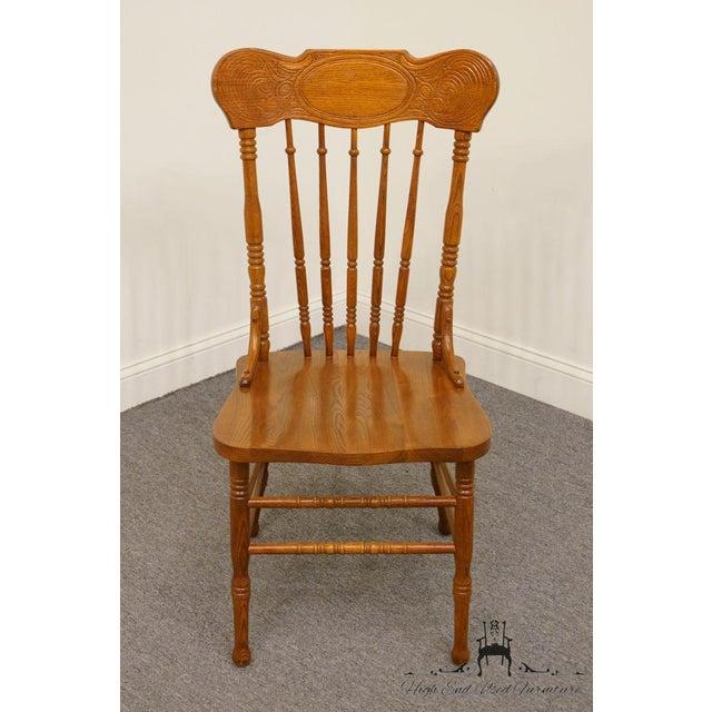 Lexington Furniture Lexington Furniture Victoriana Series Solid Oak Desk / Accent Chair 610-537 For Sale - Image 4 of 9