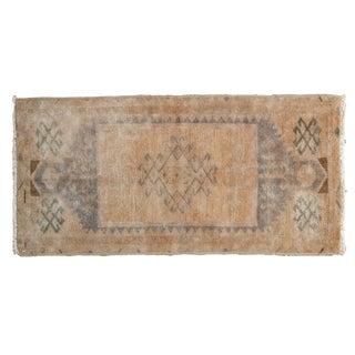 Vintage Distressed Oushak Rug Mat For Sale