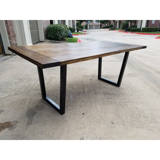 Modern Industrial Dining Table - Image 5 of 5
