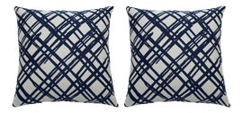 Image of Navy Blue Outdoor Pillows