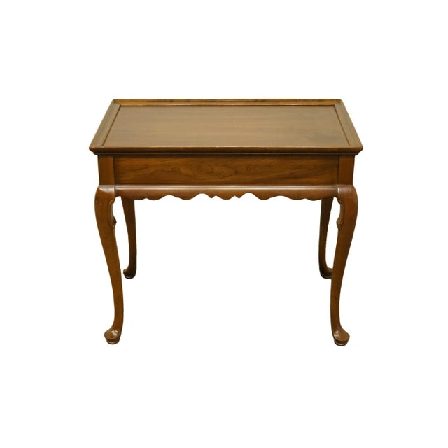 20th Century Georgian Ethan Allen Accent End / Tea Table For Sale - Image 13 of 13