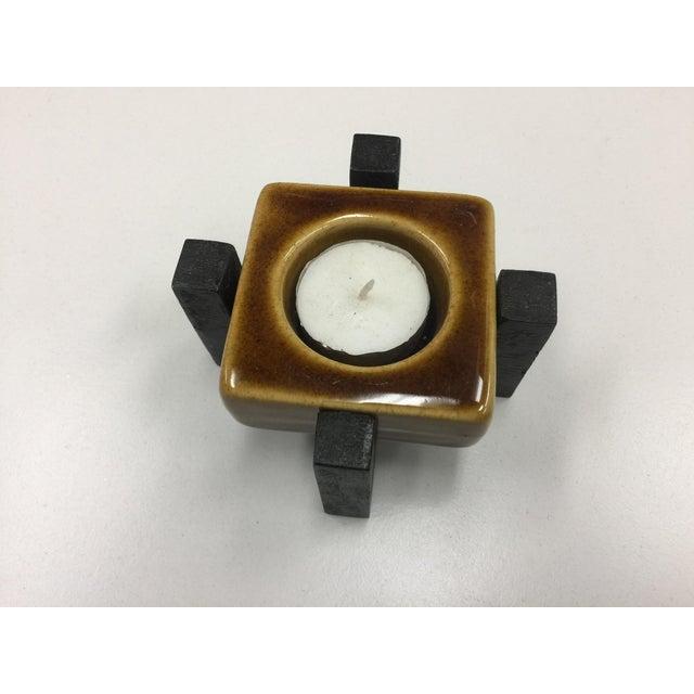 Blakeney Ceramic Gold Candleholder - Image 2 of 3