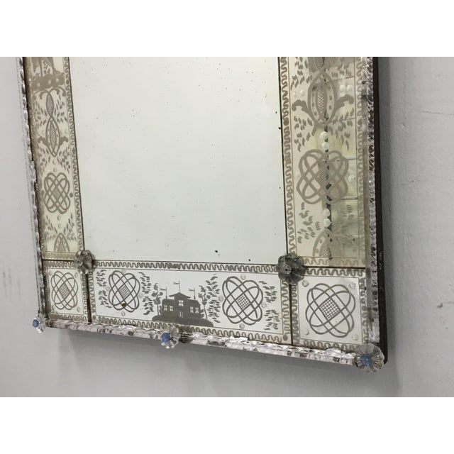 Silver 19th Century Antique Italian Venetian Mirror For Sale - Image 8 of 12