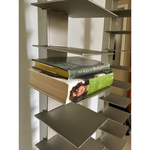 West Elm Metal Vertical Spine Bookcases A Pair Chairish