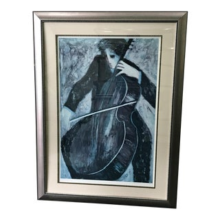 "Rare Barbara A. Wood ""The Cellist"" "" Artist Proof"" Signed by the Artist For Sale"