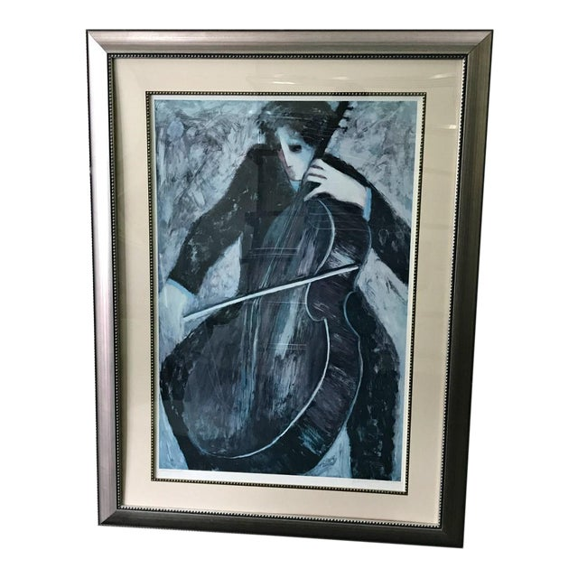 """Rare Barbara A. Wood """"The Cellist"""" """" Artist Proof"""" Signed by the Artist For Sale"""