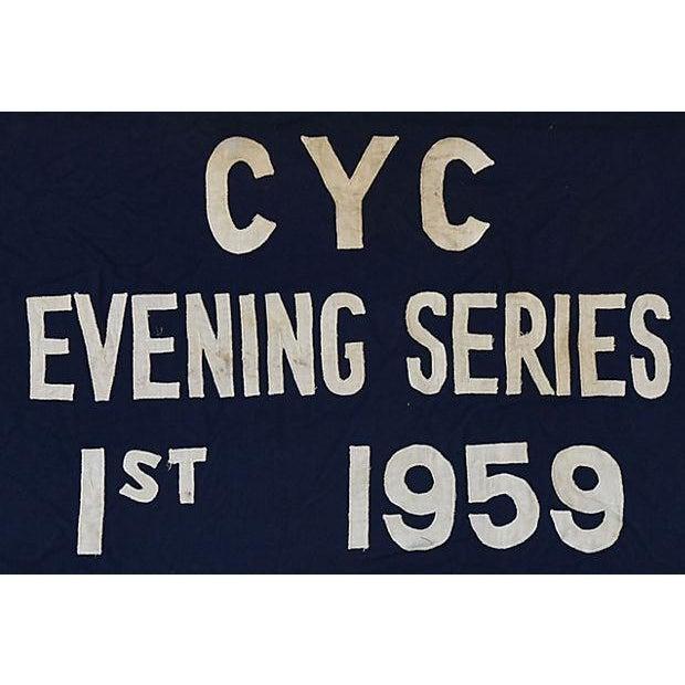 Vintage 1959 Cleveland Yacht Club Trophy Flag For Sale - Image 4 of 6