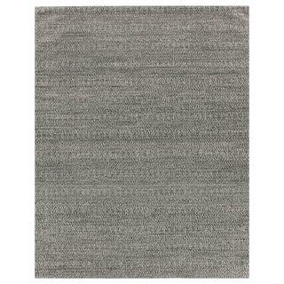 Sanz Flatweave Wool Black Rug - 8'x10' For Sale