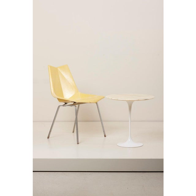 Knoll International Tulip Side Table With White Marble Top by Eero Saarinen for Knoll International For Sale - Image 4 of 9