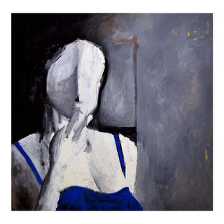Woman in Blue For Sale
