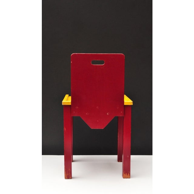 Child Chair Construction, Switzerland 1950s For Sale - Image 4 of 9