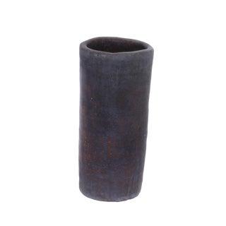 Contemporary Dark Blue Ceramic Vase