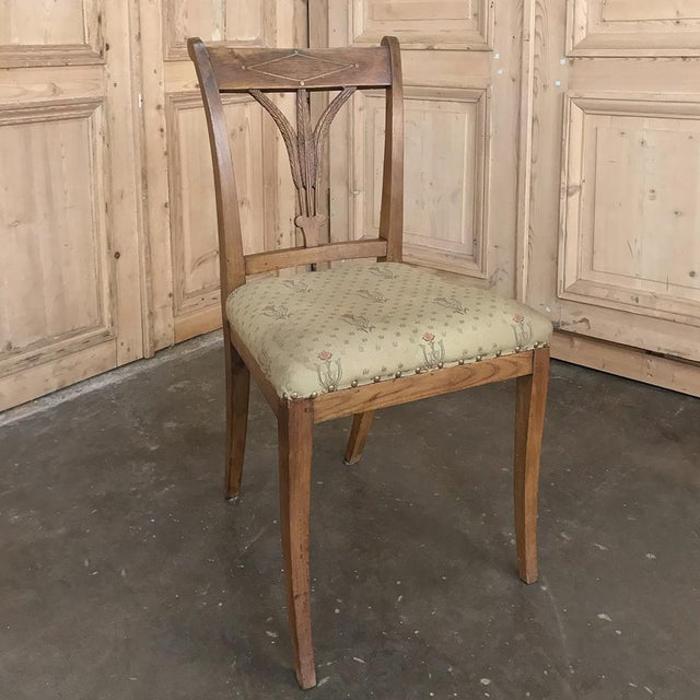 Set of Four 19th Century Swedish Directoire Style Chairs For Sale - Image 10 of 13