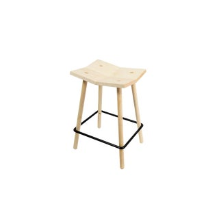 Modern Natural Mitre Counter Stool For Sale
