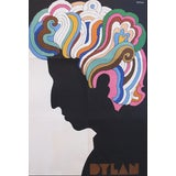 Image of Iconic 1960s Milton Glaser Poster, Bob Dylan For Sale