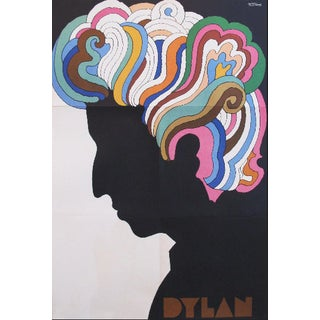 Iconic Original 1960s Milton Glaser Poster, Bob Dylan For Sale