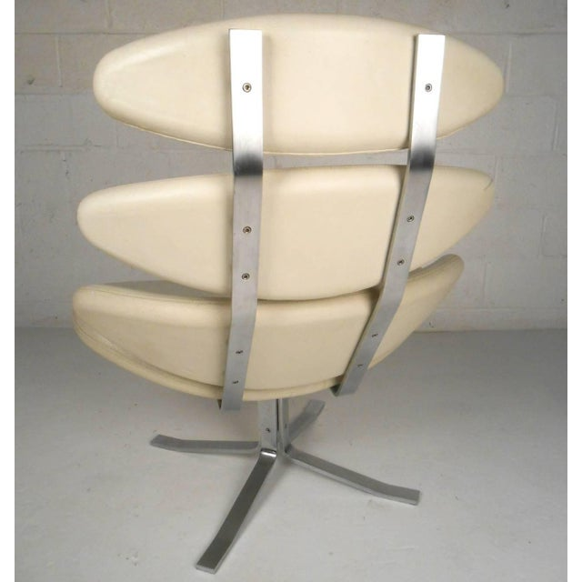 """Mid-Century Modern Poul Volther """"Corona"""" Swivel Lounge Chair For Sale - Image 3 of 7"""