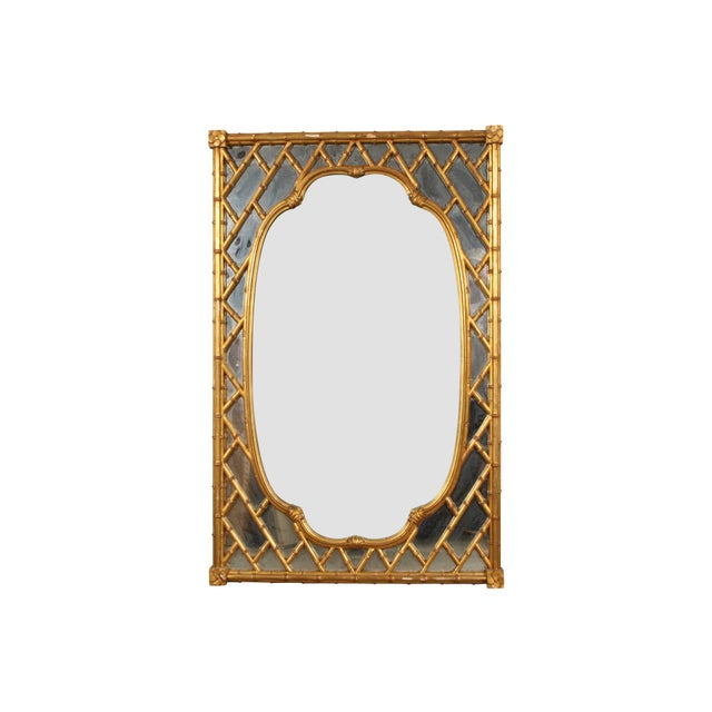 Faux Bamboo Faux Bamboo Carved and Gilt Mirror For Sale - Image 7 of 7