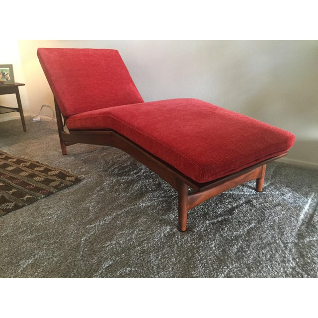 Cotton 1960s Danish Modern Selig Adjustable Lounge Chair For Sale - Image 7 of 13