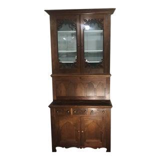 Gothic Victorian Bookcase Desk For Sale