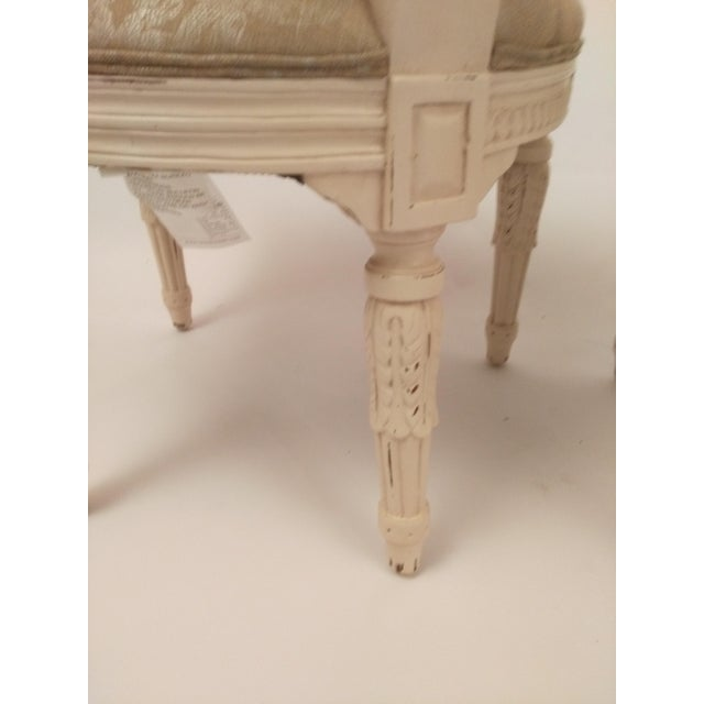 White White French Cane Back Chairs - Set of 3 For Sale - Image 8 of 9