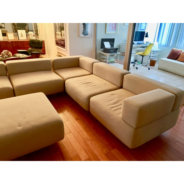 American 1970s Vintage Harvey Probber 7-Piece Beige Cubo Sectional For Sale - Image 3 of 12