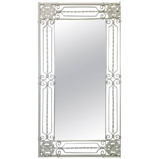 Elegant Hand Twisted Wrought Iron Mirror For Sale