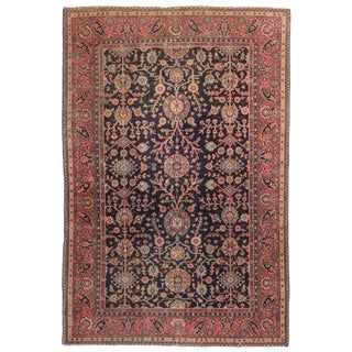 Antique Hand Knotted Wool Turkish Sparta Rug - 6′ × 8′11″ For Sale