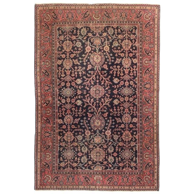 RugsinDallas Antique Hand Knotted Wool Turkish Sparta Rug - 6′ × 8′11″ For Sale