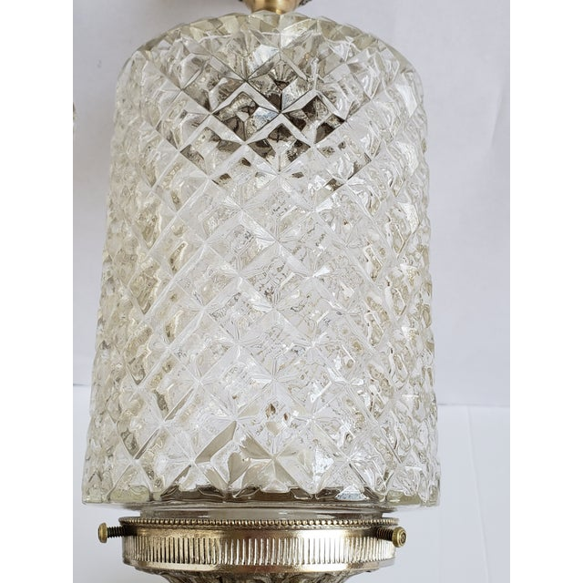 Vintage Spanish Brass and Glass Wall Sconces For Sale In New York - Image 6 of 11