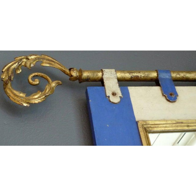 19th Century 19th Century French Painted Wood Framed Mirror For Sale - Image 5 of 6