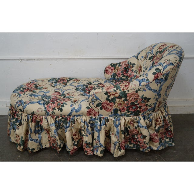 KayLyn Inc. Floral Upholstered Tufted Chaise Lounge - Image 3 of 10