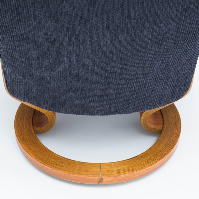 Vintage Teak Ekornes Chair and Ottoman For Sale - Image 9 of 11