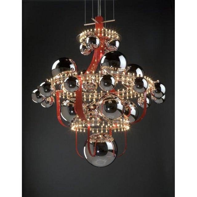 Art Deco Vintage Royal Bb Quasar Chandelier For Sale - Image 3 of 7
