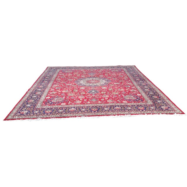 Colorful Kashan Hand-Tied Rug - 13' X 10' - Image 1 of 8