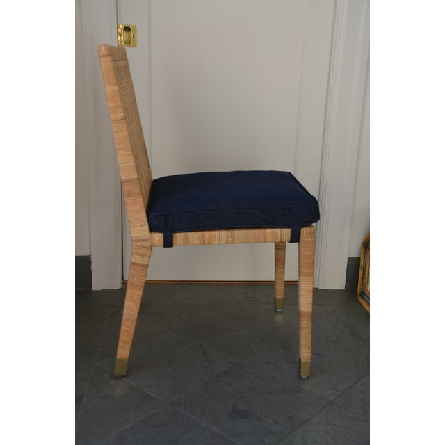 Contemporary Contemporary Serena & Lily Balboa Side Chair With Cushion For Sale - Image 3 of 6