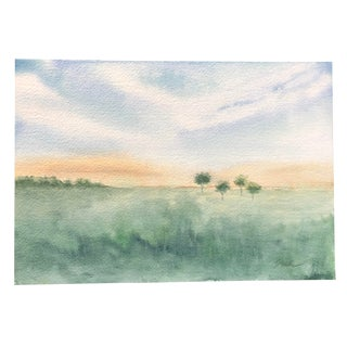 "Nancy Smith ""Quartet"" Watercolor Landscape Painting For Sale"