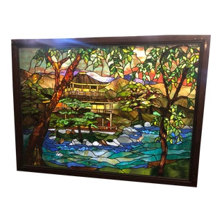 1960's Japanese Style Stained Glass For Sale