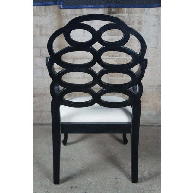 Mid 20th Century Mid Century Caesar Arm Chairs Modern Geometric Chinoiserie - a Pair For Sale - Image 5 of 11