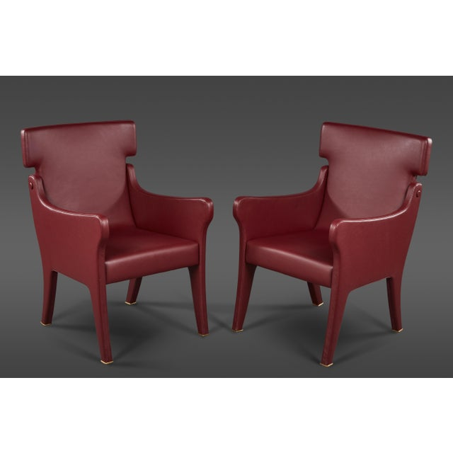 Pair of Ignazio Gardella Leather Chairs For Sale - Image 9 of 9