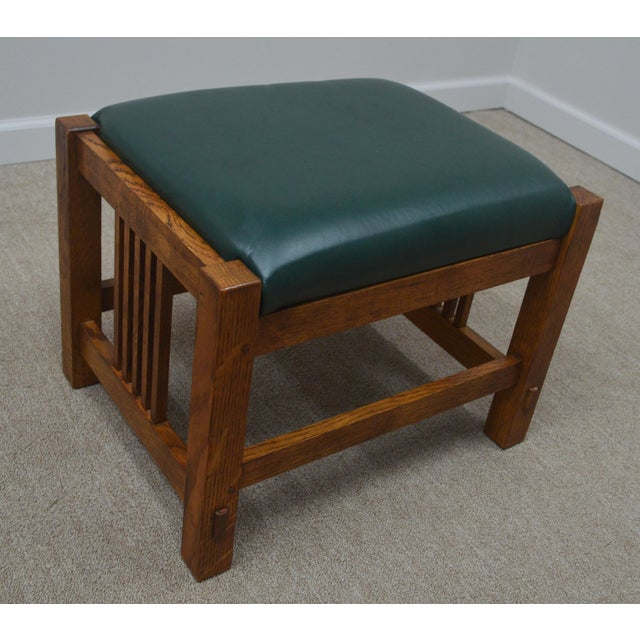 Stickley Oak Mission Morris Chair W/ Ottoman For Sale - Image 10 of 13