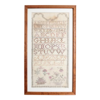 Early 19th Century Cross Stitch Sampler For Sale