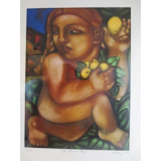Wendy MaHarry Limited Edition Drawing, 1/500 - The Lemon Thief Love of Lemons For Sale