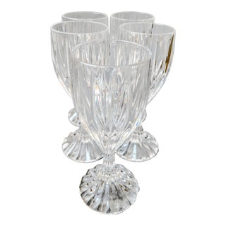 Vintage Lead Crystal Cordial Cognac Glasses - Set of 5 For Sale