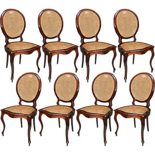 1940s Brazilian Medallion Chairs - Set of 8 For Sale