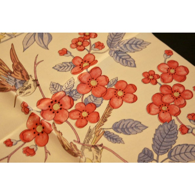100% Hand-Rolled Silk Scarf for Pillow or Framing - Image 10 of 11