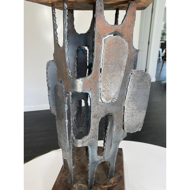 """Mid Century Witco Brutalist Lamp From the """"Metal Shapes"""" Line For Sale - Image 9 of 11"""