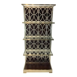 Bernhardt Modern Miramont Metal Etagere For Sale