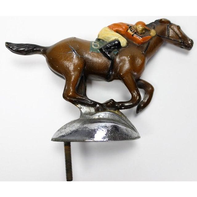 Roycroft Stables Jockey Car Mascot. Classic custom racing silks for the c1930s Roycroft Stables of East Aurora, N.Y. hand-...